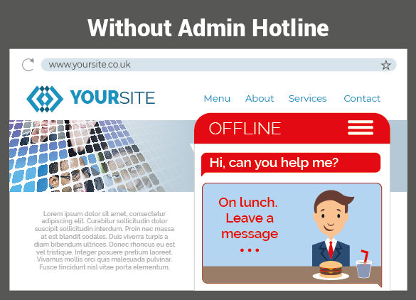 Without admin hotline